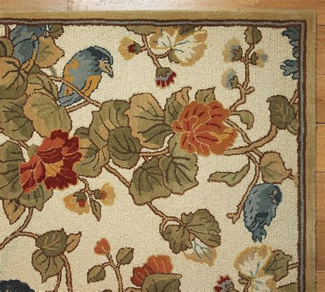 Pottery Barn Rug 8x10 New Pottery Barn Handmade Bird Floral Rug 8x10 Rugs Carpets