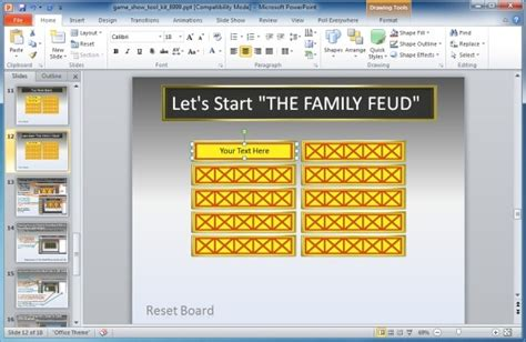 Family Feud Powerpoint Template Family Feud In Powerpoint