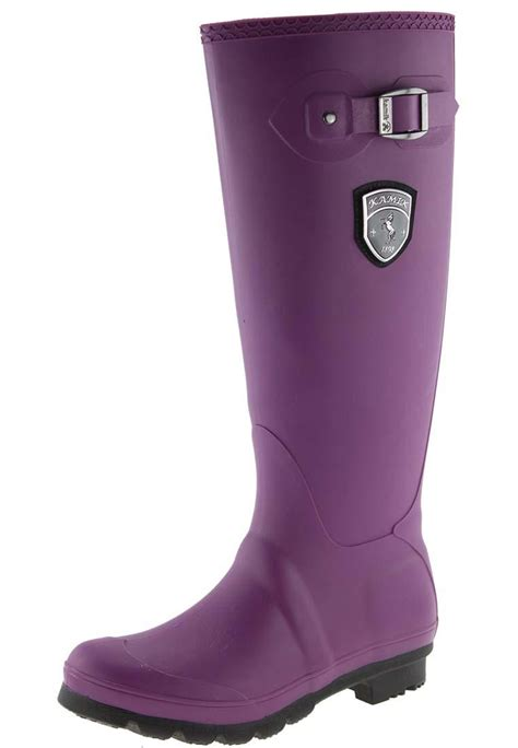 boots canada kamik in plum rubber boots a boot