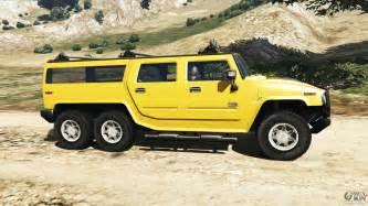 6 Wheel Truck Gta V Hummer H2 6x6 V2 0 For Gta 5