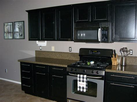 Painted Kitchen Cabinets With Black Countertops Quicua Com Painted Black Kitchen Cabinets