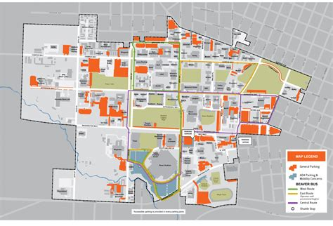 parking map of oregon parking shuttle map commencement oregon state