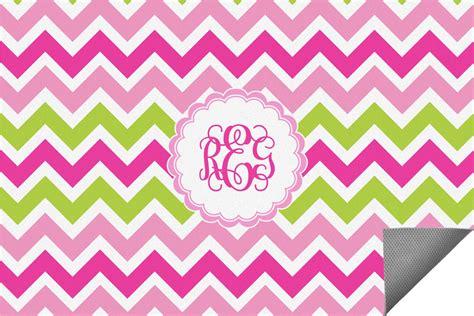 pink green chevron indoor outdoor rug 3 x5