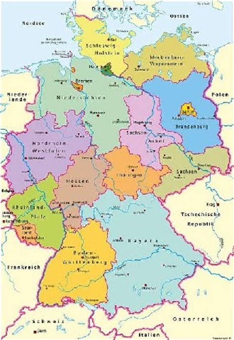 germany country map maps europe map of germany country pictures