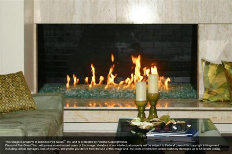 Gas Fireplace Rocks Glass by Glass
