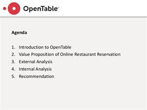opentable competitive strategy analysis