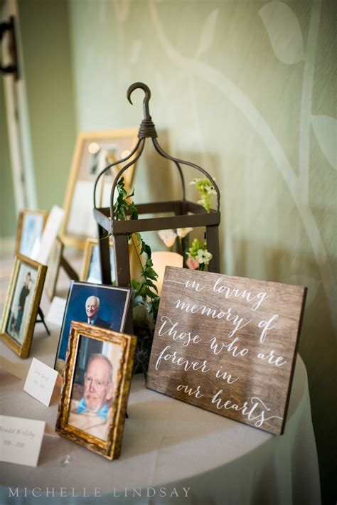memory table at wedding reception beautiful ways to remember lost loved ones at your wedding