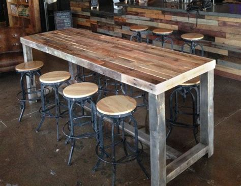 reclaimed wood bar table best 25 bar tables ideas on bar table and