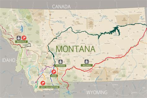 lakes in montana map montana lakes and rivers map pictures to pin on