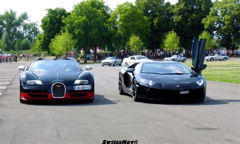 Lamborghini And Bugatti And Bugatti Veyron Vitesse Lamborghini Aventador Festival
