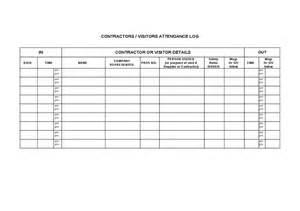 construction sign in sheet template contractor visitor attendance record hashdoc