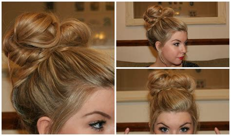 blonde hairstyles tutorial how to simple messy bun tutorial youtube