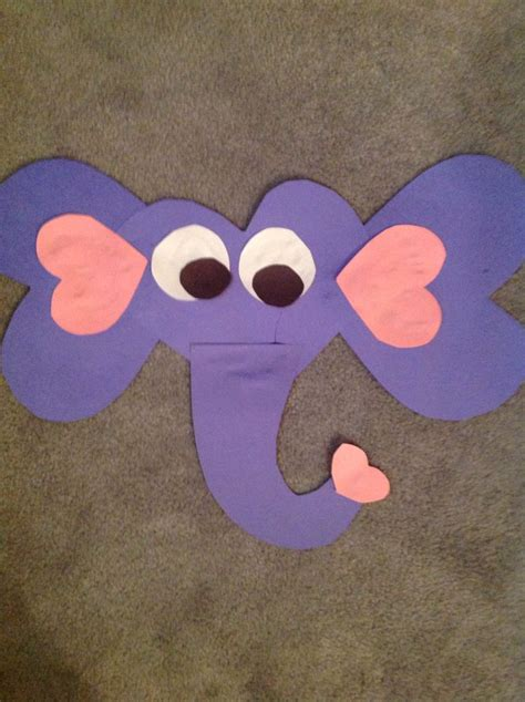 paper craft elephant elephant valentines day paper craft successful