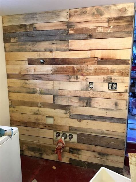 in wall laundry laundry room pallet wall hometalk