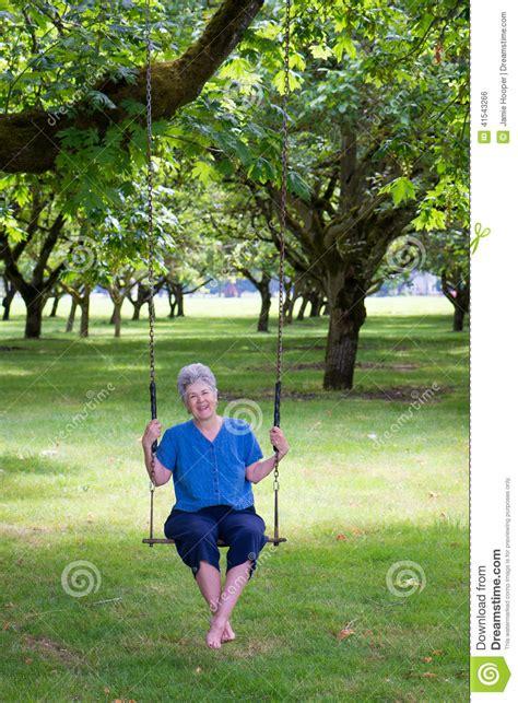 swinging seniors senior swinger stock photo image 41543266