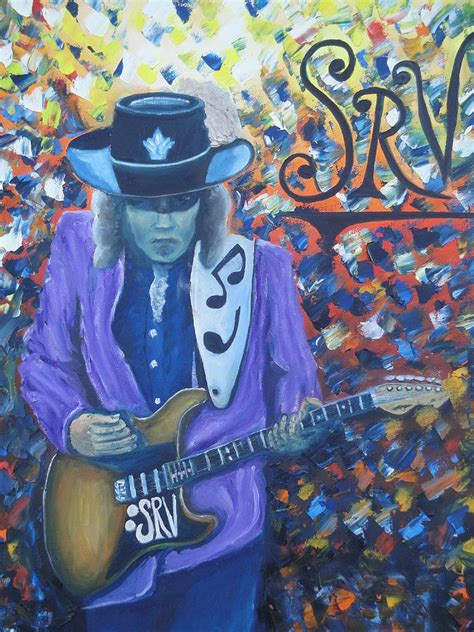 stevie ray vaughan painting  charles vaughn