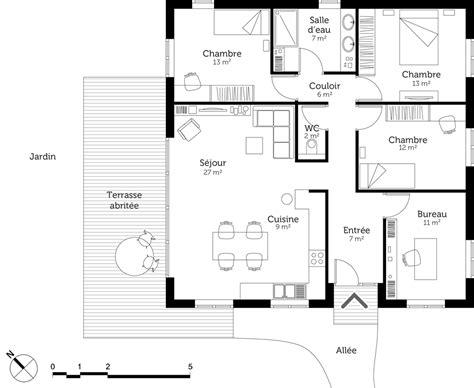 plan de cuisine gratuit pdf plan de maison contemporaine gratuit pdf avie home