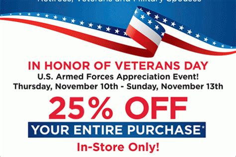 bed bath beyond 20 veterans day discount military com military discounts archive shopportunist