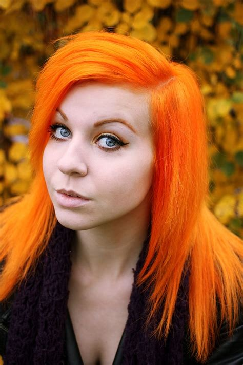 bright orange hair color neon hair colors ideas haircolors trends of neon orange