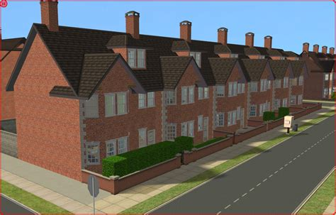 british houses mod the sims british terraced houses