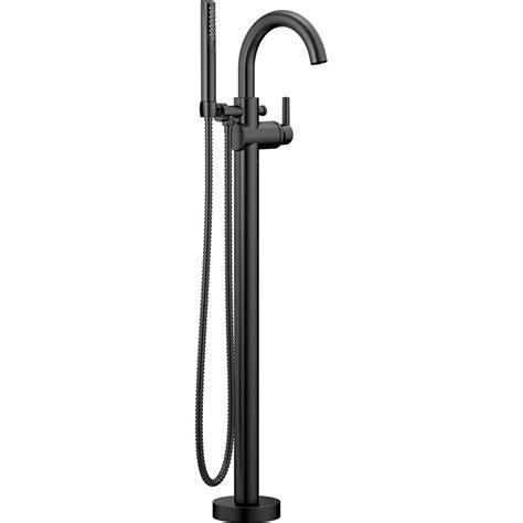 floor mount bathtub faucet delta trinsic contemporary 1 handle floor mount roman tub faucet trim kit with hand shower