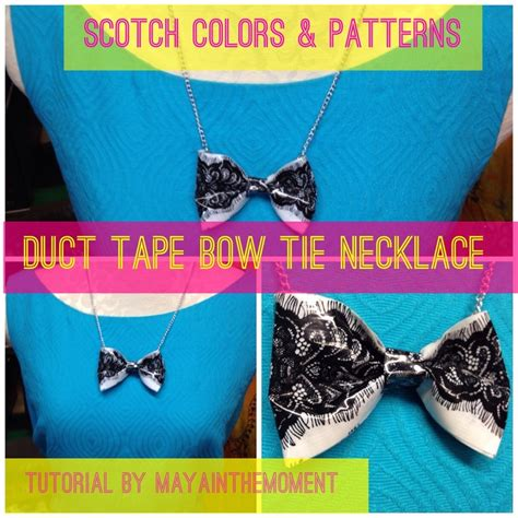 how to make duct jewelry diy bow necklace by murillo scotchstyle scotch