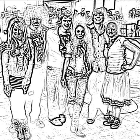 High School Musical Color Pages Az Coloring Pages Coloring Pages For High School