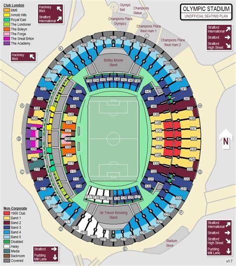 Stadium Plan london stadium seating plan claretandhugh