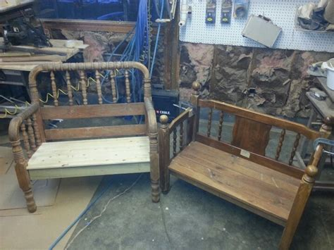 benches made from old beds benches i made from old beds furniture i built pinterest