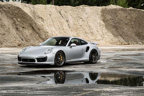 grey porsche 911 turbo a porsche 911 turbo s gets refined thanks to adv 1 wheels
