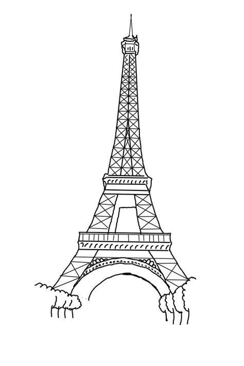 coloring pages of eiffel tower free printable eiffel tower coloring pages for kids