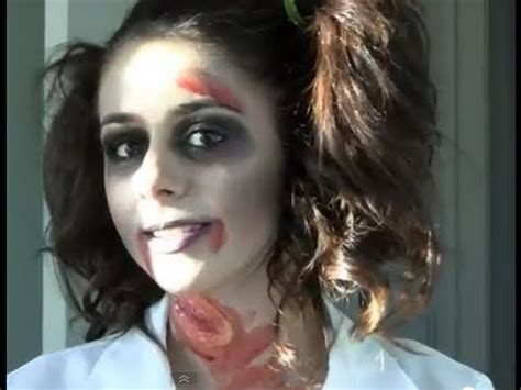 zombie school girl halloween tutorial youtube