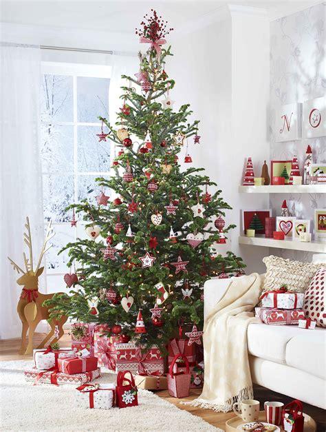 red and white scandinavian christmas scandinavian style
