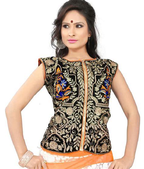 jacket neck design agarwal fashion black embroidered velvet full sleeves high