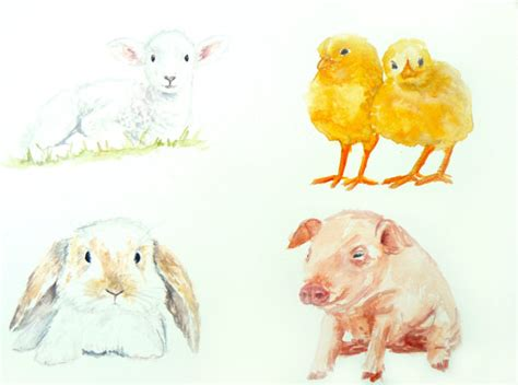 painting for babies items similar to baby animals bunny piglet