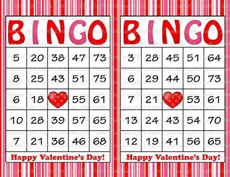 s day bingo card template 30 valentines bingo cards printable bingo cards
