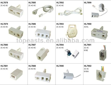 Konektor Adapter Splitter Parallel Rj11 Telepon Adsl Cabang Dua 2 List Manufacturers Of Rj45 Rj11 Splitter Buy Rj45 Rj11