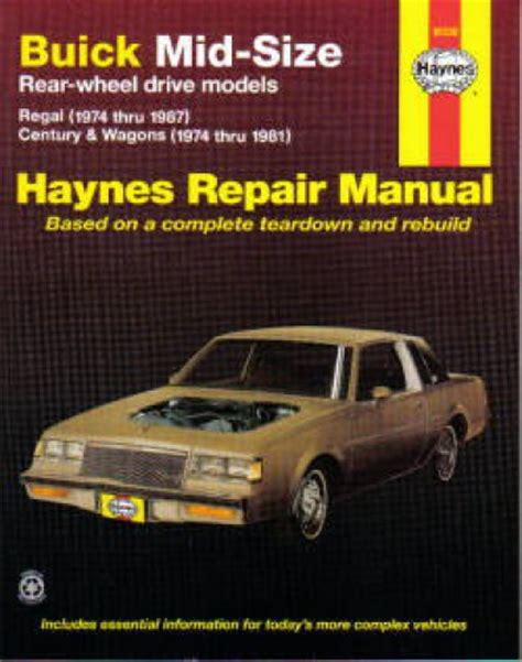 haynes buick mid size rwd 1974 1987 auto repair manual