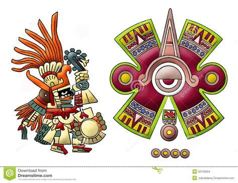 imagenes aztecas mayas deidad azteca maya huitzilopochtli imagenes de archivo