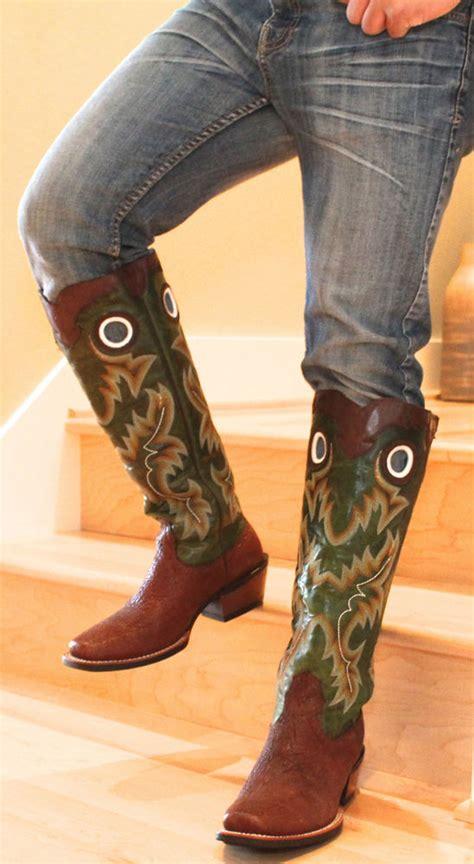 mens knee high cowboy boots s ariat knee high brushrider buckaroo cowboy