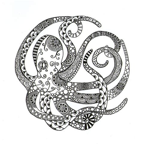 doodle god 2 octopus circular octopus print by society6