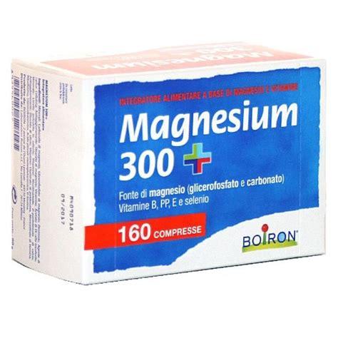 magnesio alimentare magnesium 300 integratore alimentare boiron di magnesio