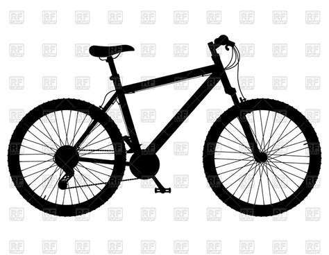 Road Bicycle Outline by Silhouette Of Mountain Bike With Gear Shifting Royalty Free Vector Clip Image 66865 Rfclipart