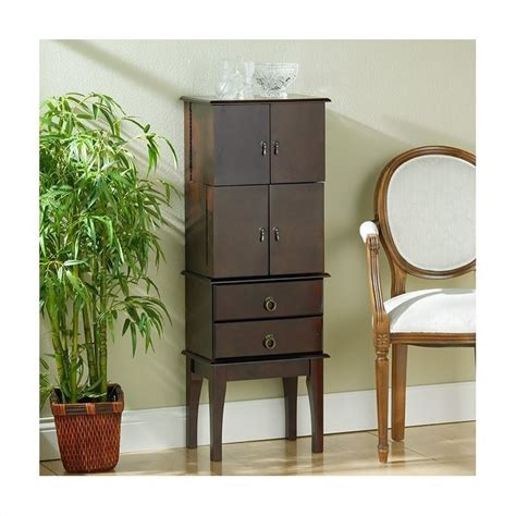 Southern Enterprises Jewelry Armoire by Southern Enterprises Cherry Jewelry Armoire Ga1443