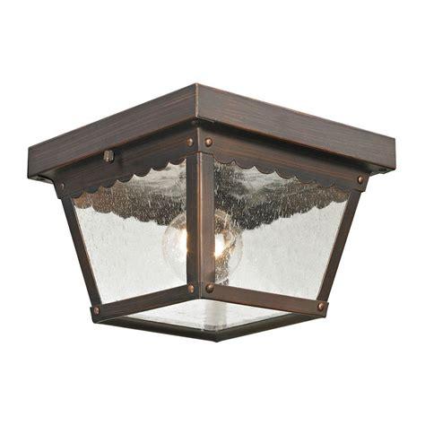 Titan Lighting Springfield 1 Light Outdoor Hazelnut Bronze