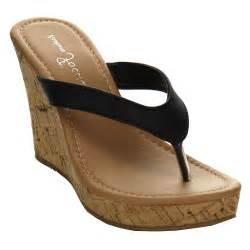flip flop wedge sandals beston fahion ea45 s platform flip flop cork wedge
