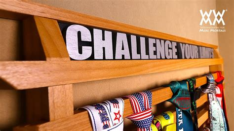how to be a woodworker running medals display rack woodworking project