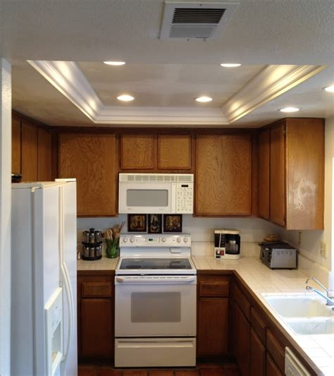 Recessed Lighting In The Kitchen Kitchen Soffit Lighting With Recessed Lights Recessedlighting