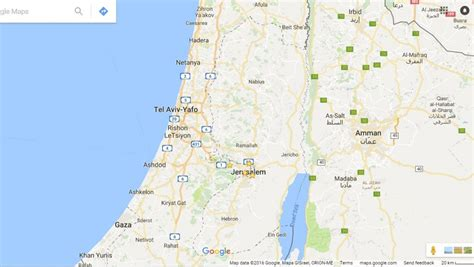israel google contrary to claim google didn t wipe palestine off maps