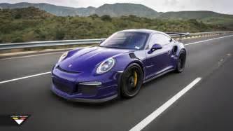 Purple Porsche Purple Beast Vorsteiner Goes To Town On Porsche 911 Gt3 Rs